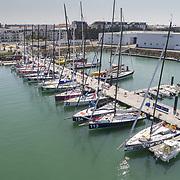 Le Ponton du Vendée-Globe vue du ciel