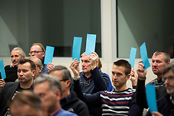 Voting during General Assembly of Slovenian Tennis Federation, on December 12, 2018 in Kristalna palaca, Ljubljana, Slovenia. Photo by Vid Ponikvar / Sportida