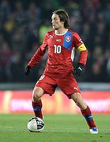 Fussball International, Nationalmannschaft   EURO 2012 Play Off, Qualifikation, Tschechische Republik - Montenegro        11.11.2011 Tomas Rosicky (Tschechische Republik)
