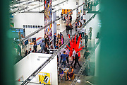 Aerial view of opening night, main exhibition hall, Art Basel Miami Beach 2012