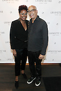 New York, NY-December 3: (L-R) Author/Designer Harriette Cole and Photographer George Chinsee attend Harriette Cole's 20th Anniversary Business Celebration held at Lafayette 148 Headquarters on December 3, 2015 in New York City.  (Photo by Terrence Jennings/terrencejennings.com)