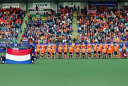 THE HAGUE - Rabobank Hockey World Cup 2014 - 2014-06-03 - MEN - The Netherlands - Korea - Opstelling Nederlandse Mannen tijdens Volkslied