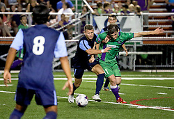 09 May 2015. New Orleans, Louisiana.<br /> New Orleans Jesters season opener at the Pan American Stadium against Jacksonville United. Jacksonville win 2-1 in a tense game.<br /> Photo; Charlie Varley/varleypix.com