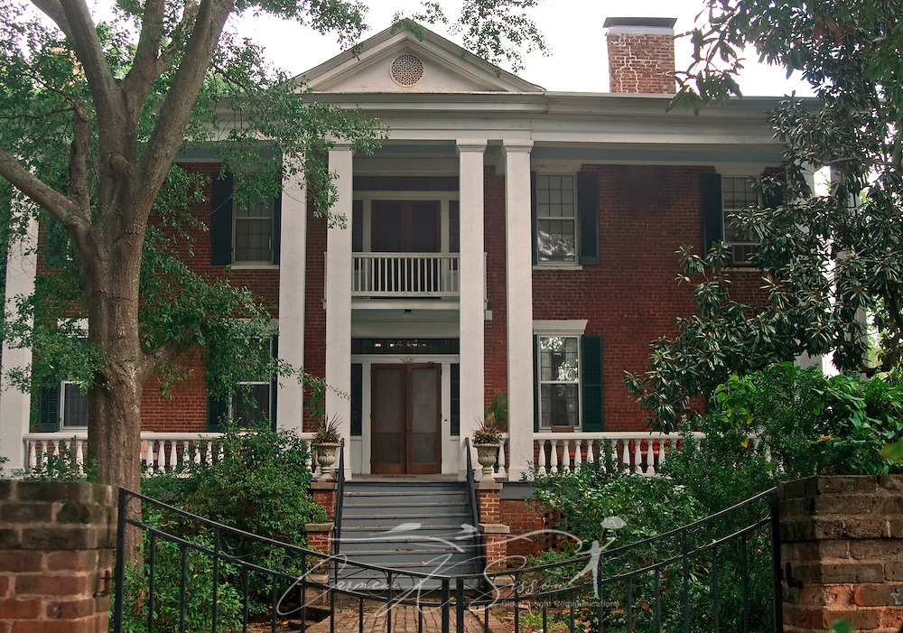 Franklin Square is pictured in Columbus, Miss. Aug. 16, 2010. The historic home, built in 1835, was one of the earliest brick homes in Columbus. (Photo by Carmen K. Sisson/Cloudybright)