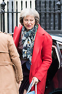 Home Secretary Theresa May arrives at the UK Cabinet meeting at Downing Street, London.<br /> Picture by Paul Davey/Focus Images Ltd +447966 016296<br /> 08/03/2016