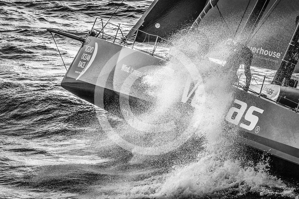 November 19, 2014. Start of Leg 2 from Cape Town to Abu Dhabi: Team Vestas Wind