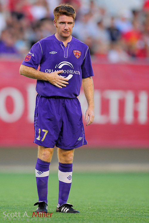 Orlando City Lions midfielder James O'Connor (17) during the Lions game against the Wilmington Hammerheads at the Florida Citrus Bowl on July 25, 2012 in Orlando, Florida. ..©2012 Scott A. Miller