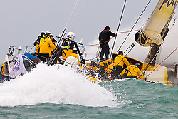 © Sander van der Borch.Alicante, 11 October 2008. Start of the Volvo Ocean Race. Team Russia rounded the bottom mark in 8th  position, reaching of in heavy weather...