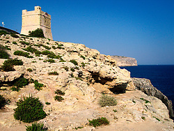 MALTA WIED IZ ZURRIEQ 23JUL06 - The Knight's tower near Wied Iz Zurrieq...jre/Photo by Jiri Rezac..© Jiri Rezac 2006..Contact: +44 (0) 7050 110 417.Mobile:  +44 (0) 7801 337 683.Office:  +44 (0) 20 8968 9635..Email:   jiri@jirirezac.com.Web:    www.jirirezac.com