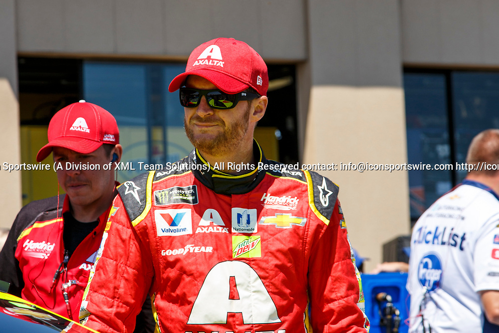 SONOMA, CA - JUNE 24:  Dale Earnhardt Jr. getting ready for qualifying for the Monster Energy NASCAR Cup held at Sonoma Raceway on June 23-25, 2017. (Photo by Allan Hamilton/Icon Sportswire)