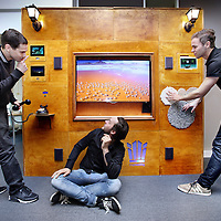 Nederland, Amsterdam, 25 juni 2014.<br /> Persoonlijke interactieve muur (PIM),<br /> Foto:Jean-Pierre Jans