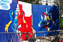 May 19, 2018 - London, England, United Kingdom - Graffiti for the World Cup at Wembley  attend The Emirates FA Cup Final between Chelsea and Manchester United at Wembley Stadium on May 19, 2018 in London, England. (Credit Image: © Alex Cavendish/NurPhoto via ZUMA Press)