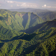 Aerial of Sibun River Gorge, 17° 05.3'N 88° 40.13'W
