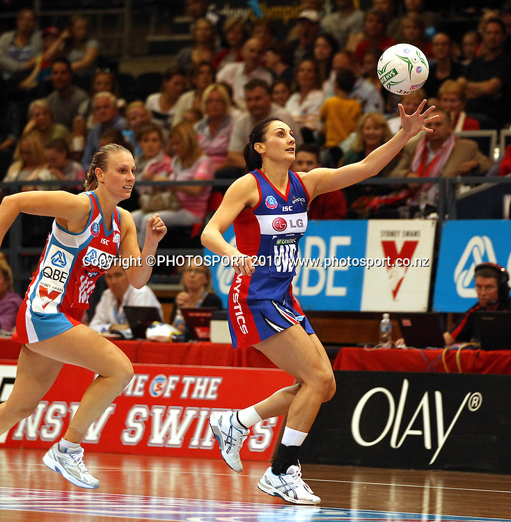 Joline Henry catching<br />