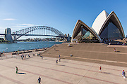 Tourists at Sydney Opera House