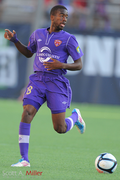 Orlando City midfielder Kevin Molino (18) in action during the first half of City's game against the Wilmington Hammerheads at the Citrus Bowl on April 15, 2012 in Orlando, Fla. ..©2012 Scott A. Miller.