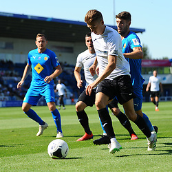 TELFORD COPYRIGHT MIKE SHERIDAN Henry Cowans of Telford during the National League North fixture between AFC Telford United and Leamington AFC at the New Bucks Head on Monday, August 26, 2019<br /> <br /> Picture credit: Mike Sheridan<br /> <br /> MS201920-005