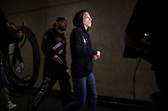 DALLAS, TX - MARCH 13:  Joanna Jedrzejczyk arrives at the UFC 185 weigh-ins at the Kay Bailey Hutchison Convention Center on March 13, 2015 in Dallas, Texas. (Photo by Cooper Neill/Zuffa LLC/Zuffa LLC via Getty Images) *** Local Caption *** Joanna Jedrzejczyk