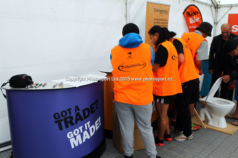 Career Expo during day three of the National Secondary Schools Rugby League Tournament at Bruce Pulman Park, Auckland, 2 September 2015. Copyright Photo: William Booth / www.photosport.nz