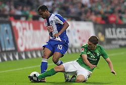 25.09.2011, Weserstadion, Bremen, GER, 1.FBL, Werder Bremen vs Hertha BSC, im Bild Raffael (Berlin #10), Aleksandar Ignjovski (Bremen #17)..// during the match Werder Bremen vs Hertha BSC on 2011/09/25, Weserstadion, Bremen, Germany..EXPA Pictures © 2011, PhotoCredit: EXPA/ nph/  Frisch       ****** out of GER / CRO  / BEL ******