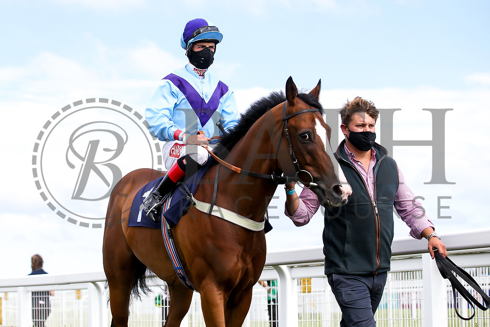 Bay Watch ridden by Tyler Heard and trained by Tracey Barfoot-Saunt - Mandatory by-line: Robbie Stephenson/JMP - 18/07/2020 - HORSE RACING- Bath Racecourse - Bath, England - Bath Races 18/07/20