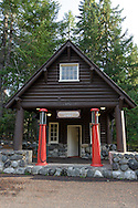 The historic Longmire Service Station at Longmire in Mount Rainier National Park, Washington State, USA