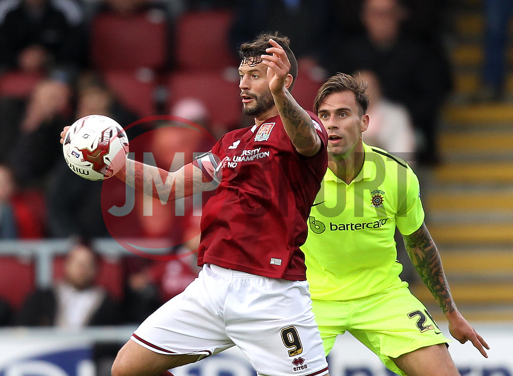Marc Richards of Northampton Town controls the ball - Mandatory byline: Robbie Stephenson/JMP - 07966 386802 - 10/10/2015 - FOOTBALL - Sixfields Stadium - Northampton, England - Northampton Town v Hartlepool - Sky Bet League Two