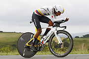 Egan Bernal (COL - Team Sky) during the 105th Edition of Tour de France 2018, cycling race stage 20, time trial, Saint Pee sur Nivelle - Espelette (31 km) on July 28, 2018 in Espelette, France - Photo Luca Bettini / BettiniPhoto / ProSportsImages / DPPI