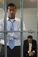 Two men in prison cell