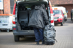 © Licensed to London News Pictures. 21/03/2018. Salisbury, UK. A man carries equipment as Investigators from the Organisation for the Prohibition of Chemical Weapons (OPCW)  arrive at The Mill pub in Salisbury aspolice continue their investigation after former Russian spy Sergei Skripal was taken after he and his daughter Yulia were poisoned with nerve agent. The couple where found unconscious on bench in Salisbury shopping centre. A policeman who went to their aid is currently recovering in hospital. Photo credit: Peter Macdiarmid/LNP