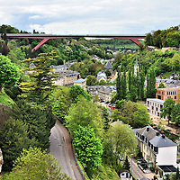 Grand Duchess Charlotte Bridge in Luxembourg City, Luxembourg<br />