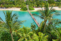 Singapour, ile de Sentosa, plage de Palawan // Singapore, Sentosa Island, Palawan Beach, Sentosa