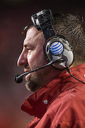 FAYETTEVILLE, AR - NOVEMBER 22:  Head Coach Bret Bielema of the Arkansas Razorbacks on the sidelines in the fourth quarter of a game against the Ole Miss Rebels at Razorback Stadium on November 22, 2014 in Fayetteville, Arkansas.  The Razorbacks defeated the Rebels 30-0.  (Photo by Wesley Hitt/Getty Images) *** Local Caption *** Bret Bielema