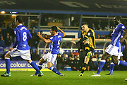 Sheffield Wednesday's Gary Hooper shoots during the EFL Sky Bet Championship match between Birmingham City and Sheffield Wednesday at St Andrews, Birmingham, England on 27 September 2017. Photo by John Potts.
