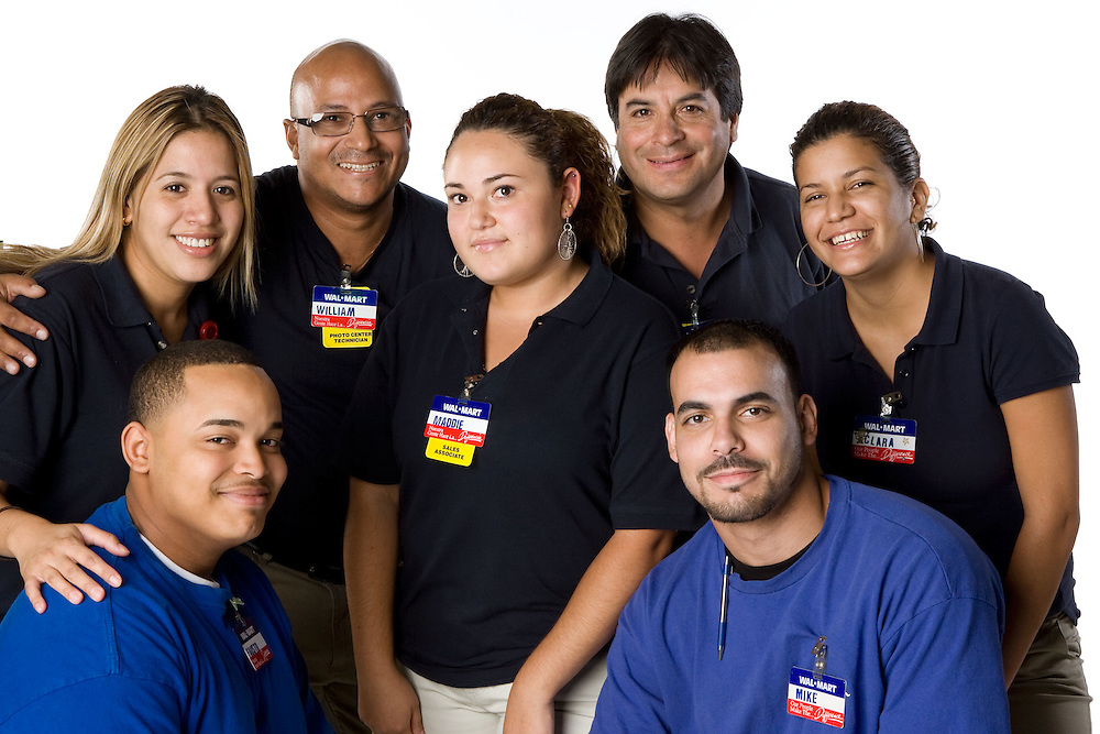 Walmart Associate Team profile for Walmart World Advertising campaign by Michel Leroy PHOTOGRAPHER for WalmartOne