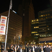 The Today Show filmed in Detroit, MI on September 25, 2008<br /> Today, also referred to as The Today Show, is an American morning news and talk show airing weekday mornings on NBC. Debuting on January 14, 1952, it was the first of its genre, spawning similar morning news and entertainment television programs across the United States and around the world. The show is also the third-longest running American television series. Originally a two-hour program on weekdays, it expanded to Sundays (currently one hour) in 1987 and Saturdays (two hours) in 1992. The weekday broadcast expanded to three hours in 2000, and a fourth hour launched in 2007.