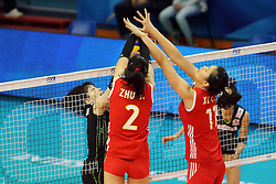 Japan Haruka Miyashita fights against China Zhu Ting and China Xu Yunli