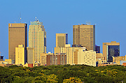 Winnipeg skyline looking to the east<br /> Winnipeg<br /> Manitoba<br /> Canada
