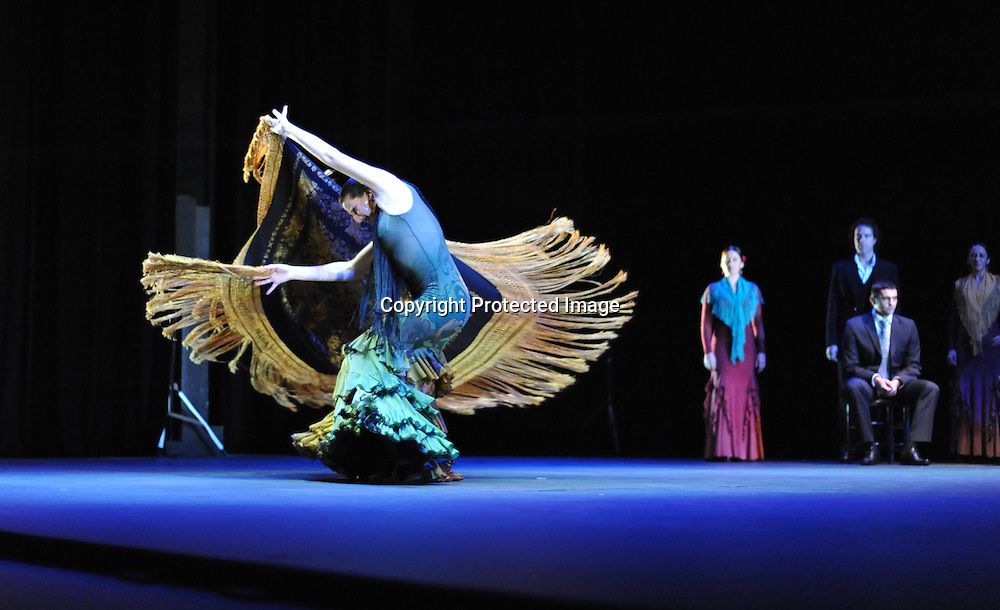 Maria Pages dances with Manton at Sadler's Wells Flamenco Festival photocall