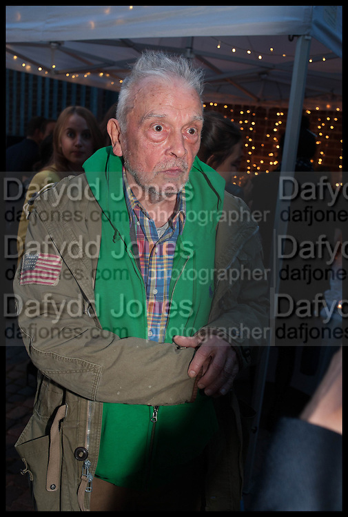 DAVID BAILEY, Frank Cohen and Nicolai Frahm host Julian Schnabel's 'Every Angel has a Dark Side,' private view and party. IN AID OF CHICKENSHED. Dairy Art Centre, 7a Wakefield Street, London. 24 APRIL 2014