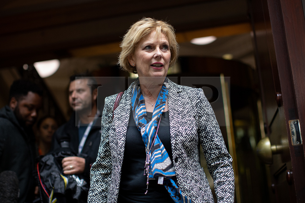 © Licensed to London News Pictures. 24/09/2019. London, UK. Anna Soubry MP leaves media studios in Westminster, following a historic ruling by the Supreme Court this morning that Boris Johnson's decision to suspend Parliament for five weeks was unlawful. Photo credit : Tom Nicholson/LNP