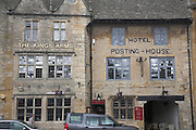 The Kings Arms hotel Posting House buildings Stow on the Wold, Gloucestershire, England