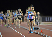 May 3, 2018; Stanford, CA, USA; Meraf Bahta (SWE) wins  the women's 5,000m in 15:15.33 during the Payton Jordan Invitational at Cobb Track &  Angell Field.