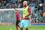 West Ham United defender James Collins  during the The FA Cup match between Blackburn Rovers and West Ham United at Ewood Park, Blackburn, England on 21 February 2016. Photo by Simon Davies.