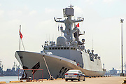 A Chinese Navy ship visits Haifa port, Israel August 2013