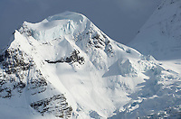 Glaciered summit of The Helmet, Mount Robson Provincial Park British Columbia Canada
