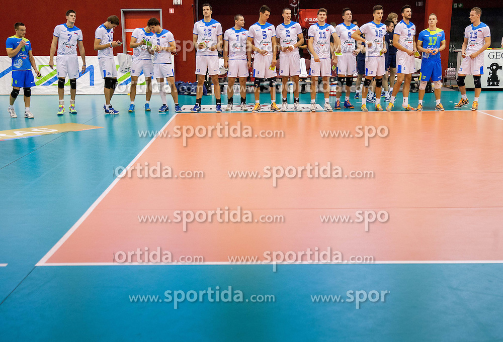 Team Slovenia during friendly volleyball match between National teams of Slovenia and Bulgaria on August 29, 2013 in Hoce, Slovenia. Slovenia defeated Bulgaria 3-1. (Photo by Vid Ponikvar / Sportida.com)