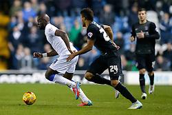 Souleymane Doukara of Leeds United is challenged by Jordan Cousins of Charlton Athletic - Photo mandatory by-line: Rogan Thomson/JMP - 07966 386802 - 04/11/2014 - SPORT - FOOTBALL - Leeds, England - Elland Road Stadium - Leeds United v Charlton Athletic - Sky Bet Championship.