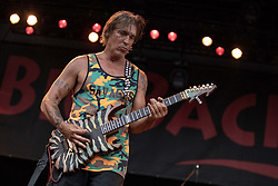 July 1, 2018 - Milwaukee, Wisconsin, U.S - GEORGE LYNCH of Lynch Mob performs live at Henry Maier Festival Park during Summerfest in Milwaukee, Wisconsin (Credit Image: © Daniel DeSlover via ZUMA Wire)