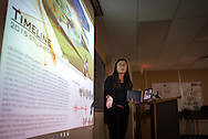 Students in OSU Assistant Professor Bo Zhang's Landscape Architecture 4515: Studio 5: Urban Design class present their design proposals for a memorial project for the 2015 homecoming parade tragedy in Stillwater.